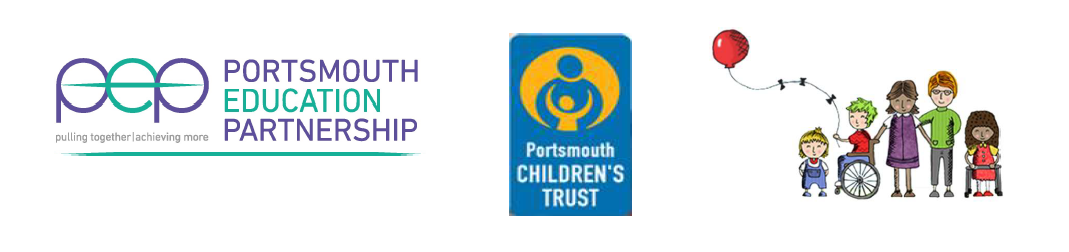 Portsmouth Education Strategy logos