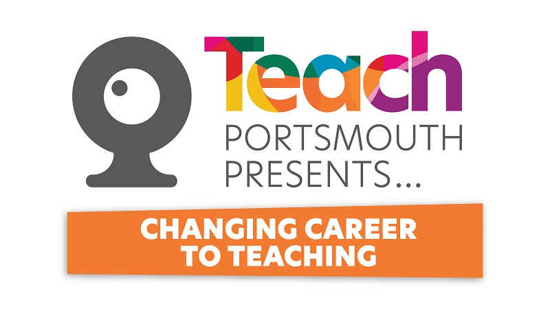 Teach Portsmouth presents changing career to teaching logo